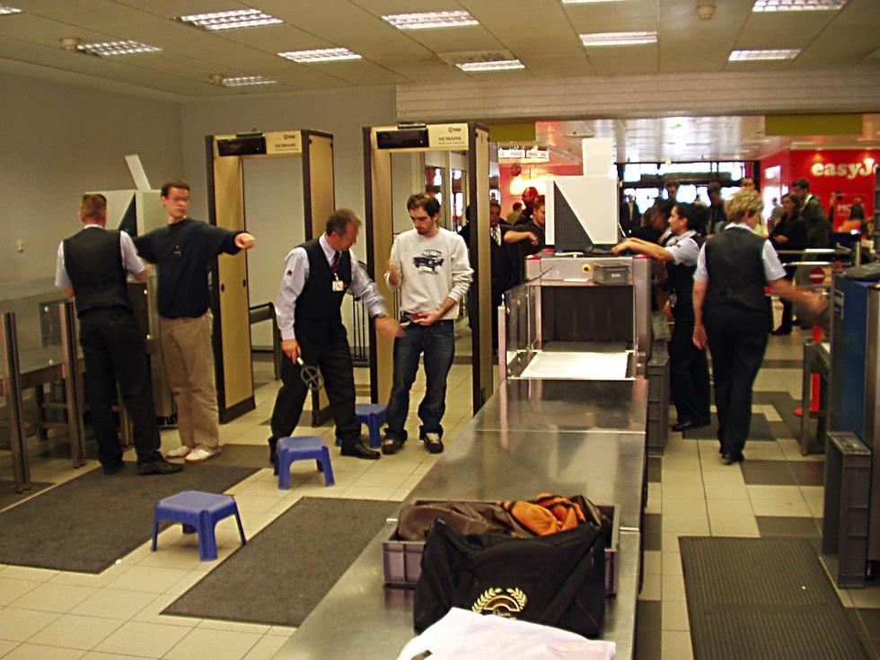 снимки со сканера в аэропорту
